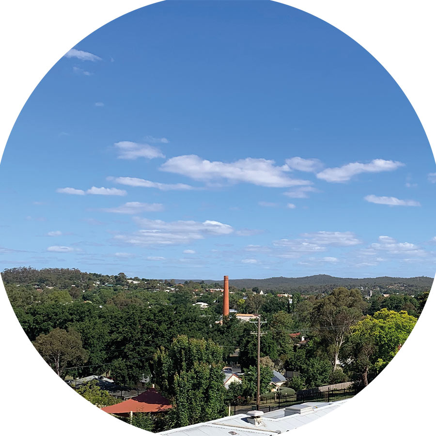 View from Castlemaine Health Midwifery Group Practice birthing rooms