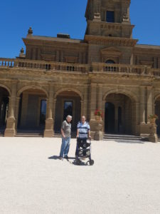 Brian and Jim in front of Werribee Mansion