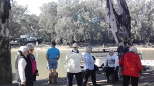 Friday Explorers club members standing next to the Murray River